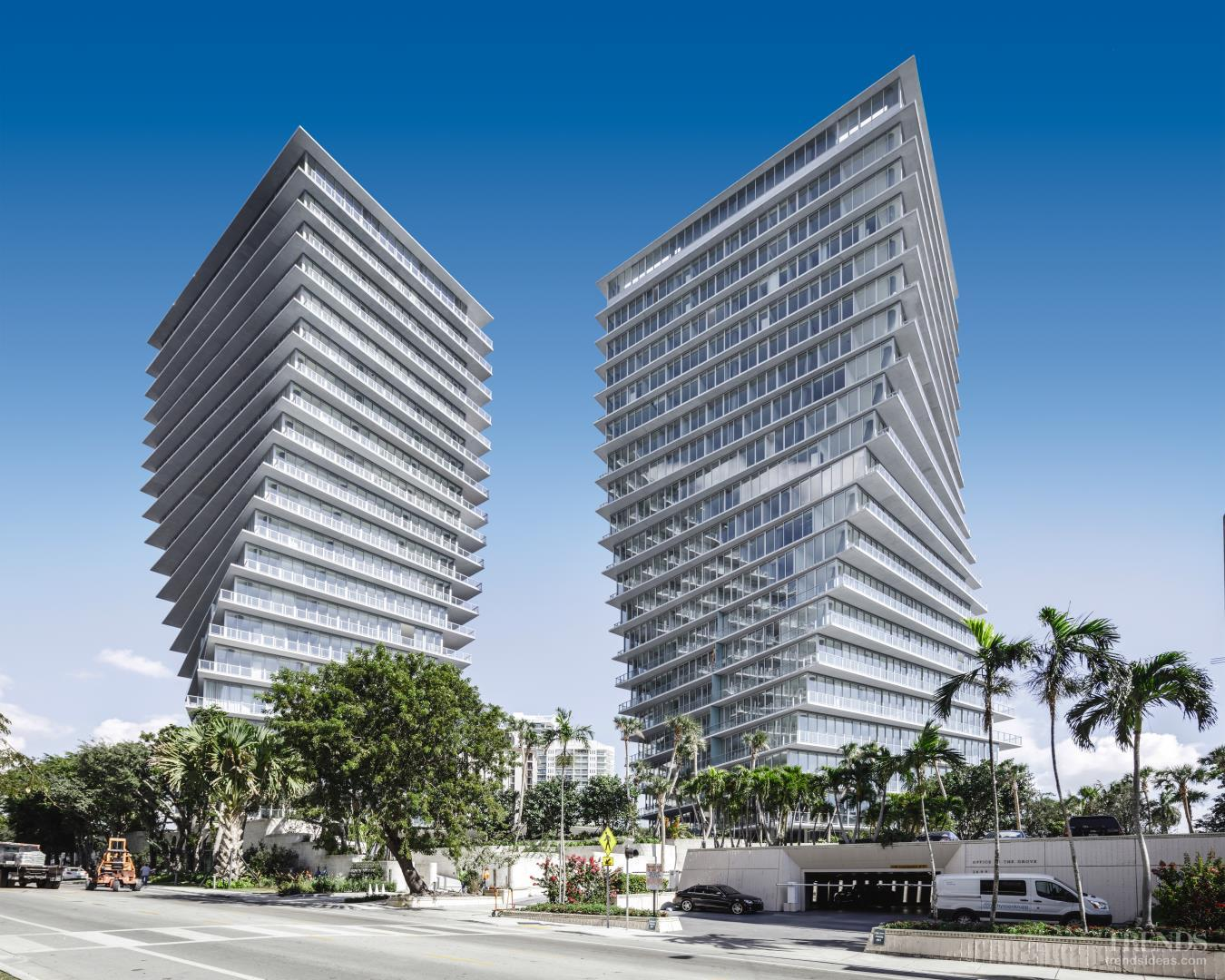 Twisting twin residential towers put a new spin on condominum living in Miami