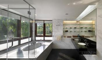 Tranquil bathroom and powder room