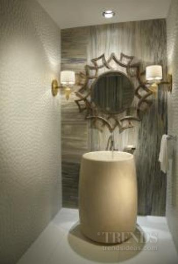 Soft and subtle powder room