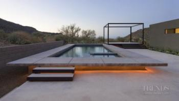 Call of the desert – house by Ibarra Rosano Design Architects. Image: 2