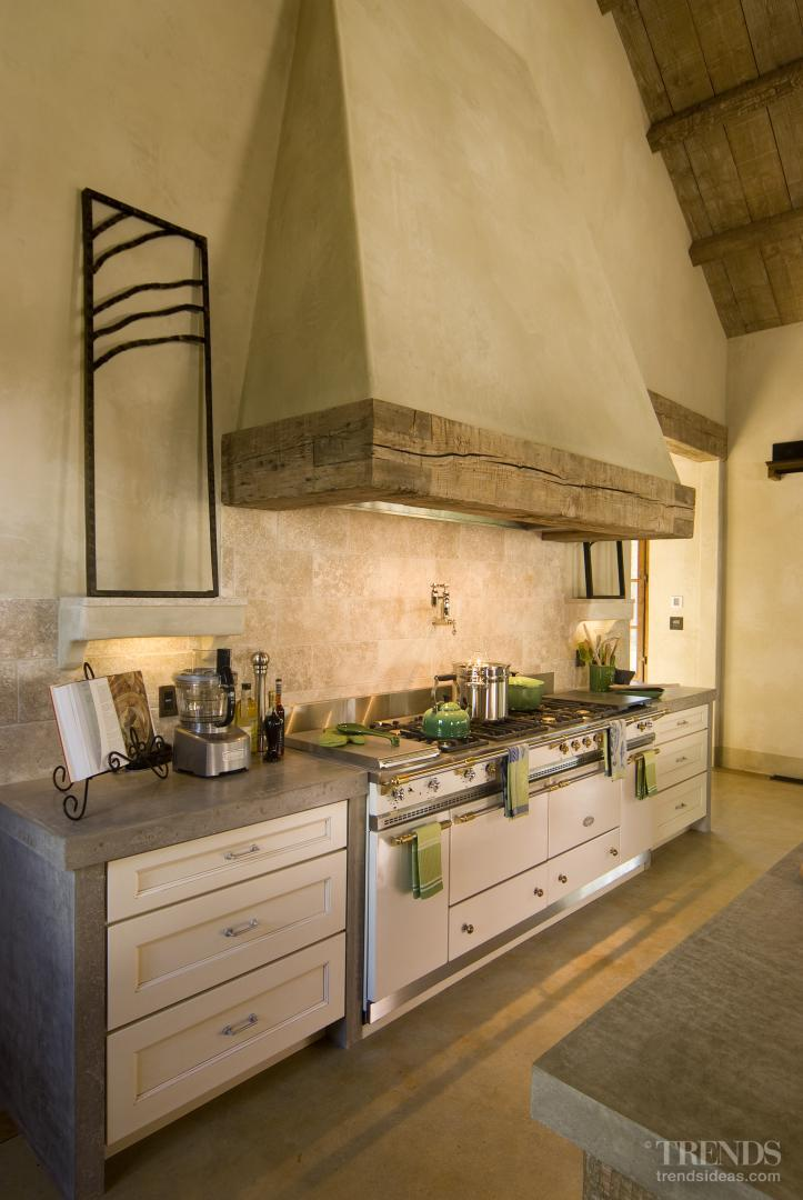 French Provincial Kitchen In Barn Style House