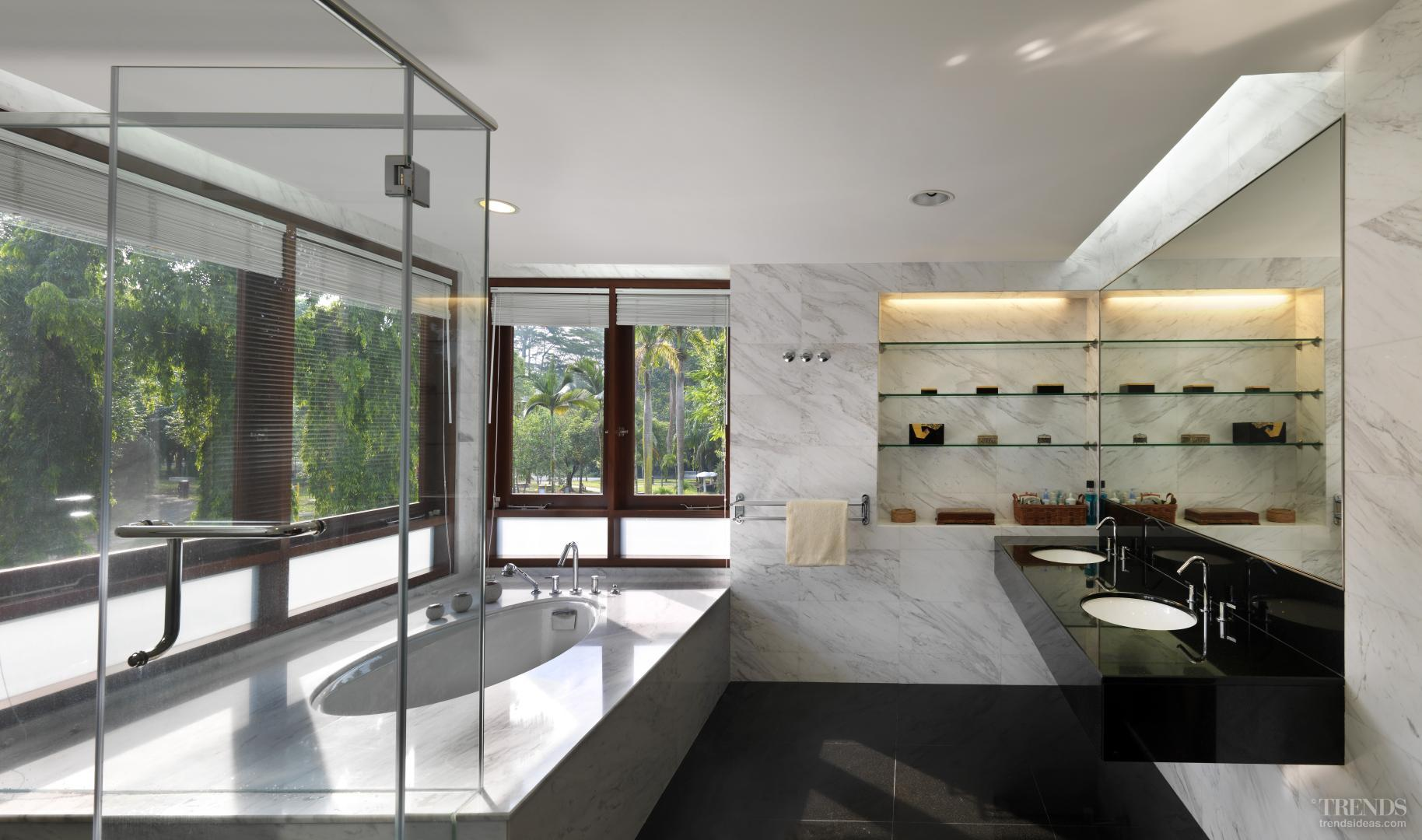 Tranquil bathroom and powder room for Bathroom trends new zealand