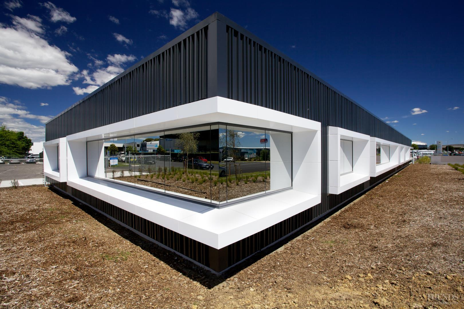 In The Frame Alucobond Feature Window Frames By Kaneba