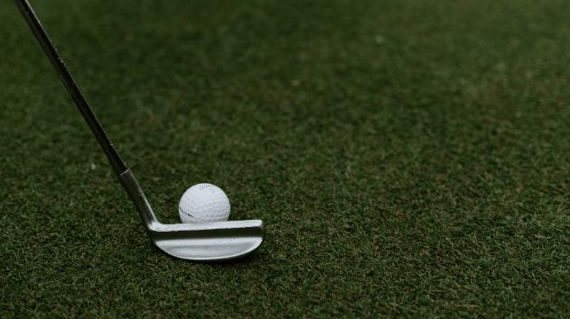 someone playing golf