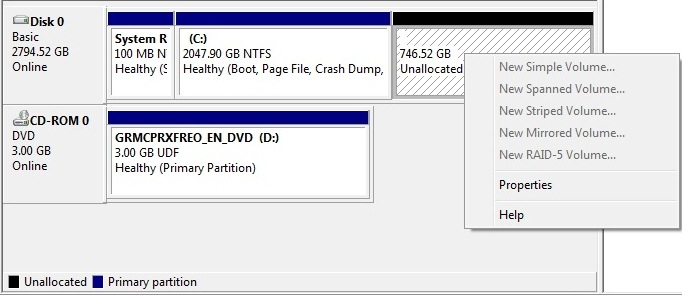 how to use a partitioned hard drive