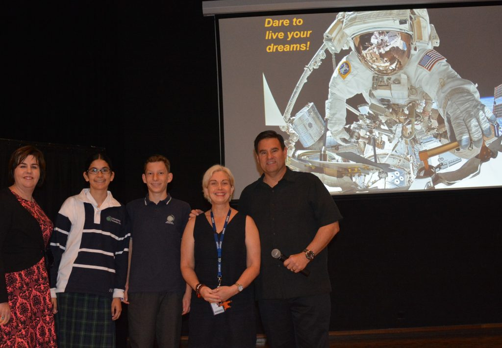 Astronaut Greg Chamitoff inspires IGS staff and students