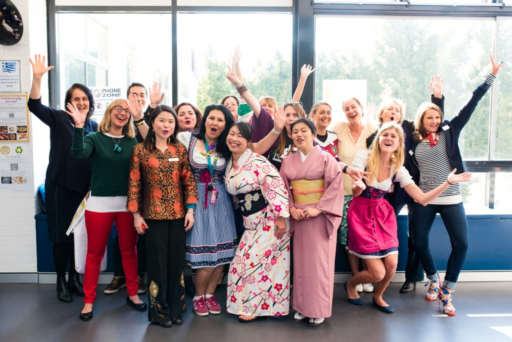 Some IGS staff in national dress on International Day
