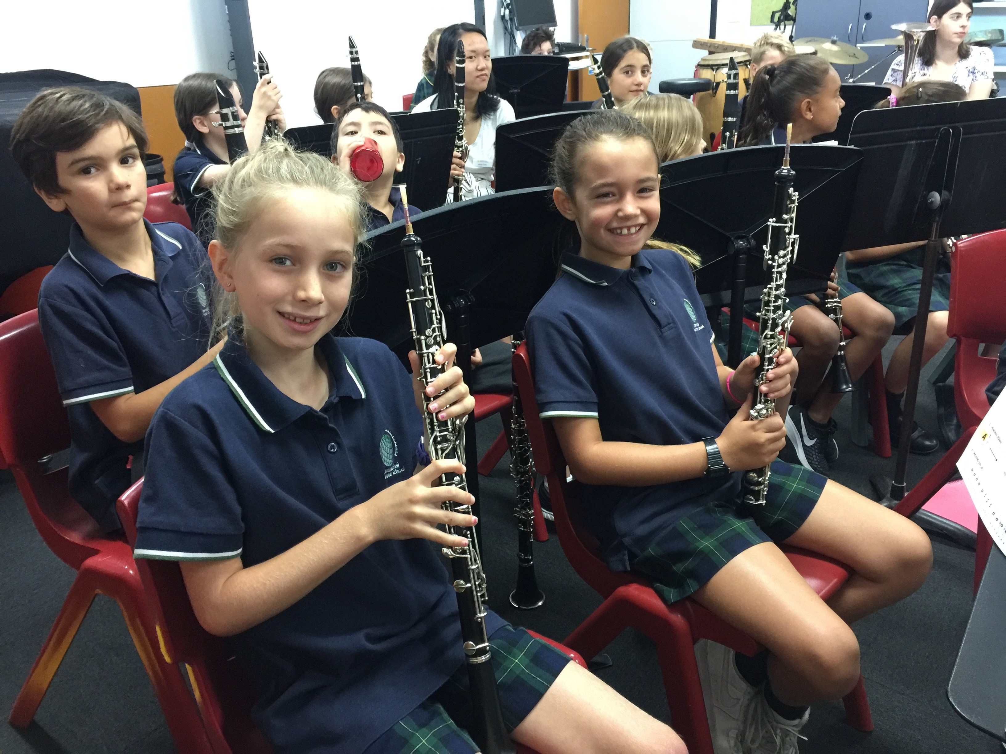 IGS Year 4 oboe and clarinet players