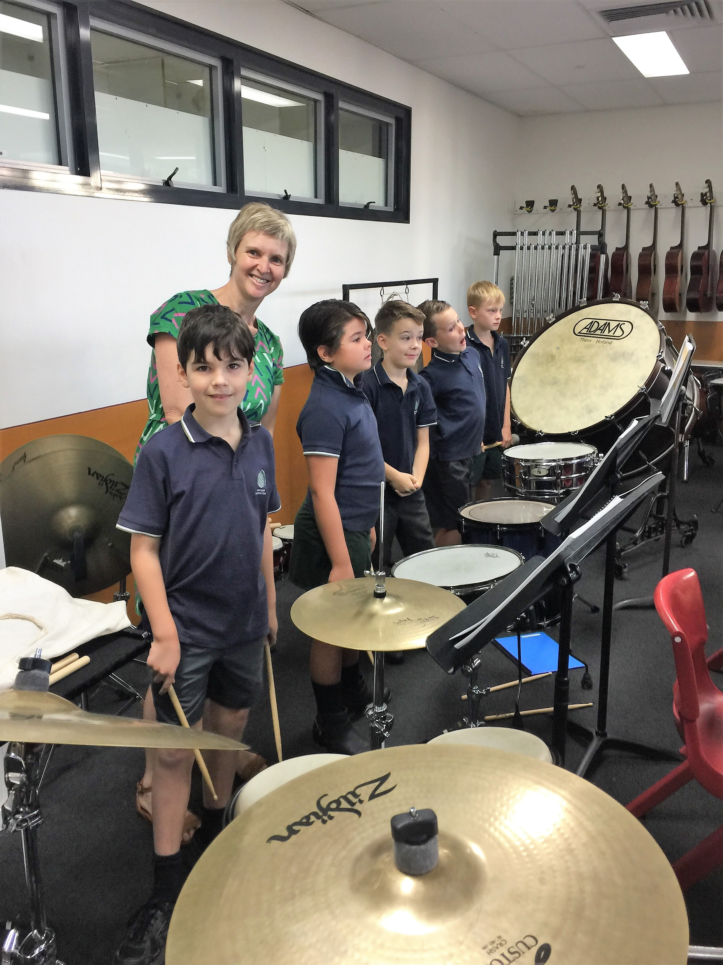 IGS Year 4 percussionists