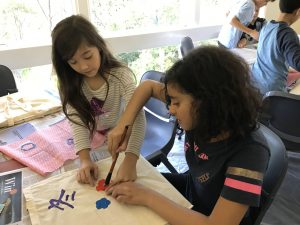 Craft activities at Japanese language camp