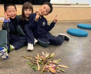 Kindergarten created nature's mandala