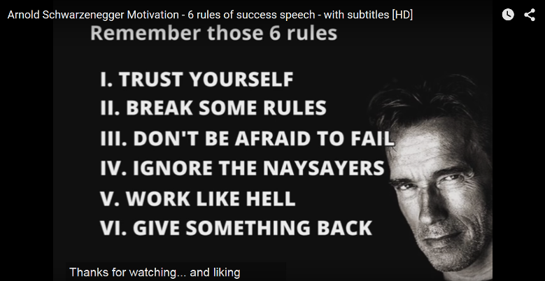 6 Rules to Success Speech