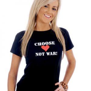 Organic Cotton T-Shirt Choose Love Not War