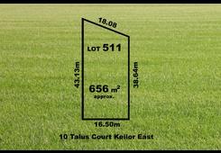 10 (Lot 511) Talus Court Keilor East