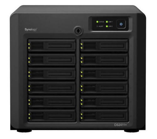 This Synology unit will happily store 48 TB of data for you in one (easily steal-able!) unit