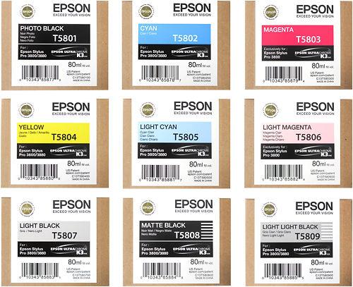 Epson Stylus Pro 3800 Inks Master Image