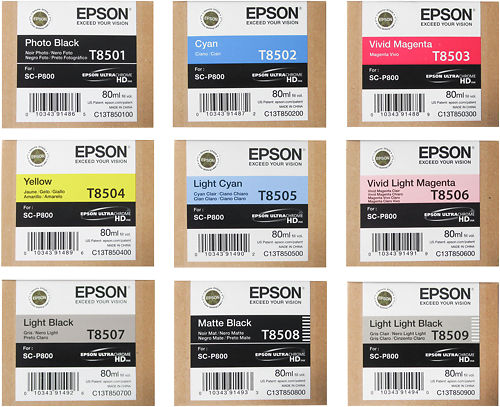 Epson SureColor P800 Inks Master Image
