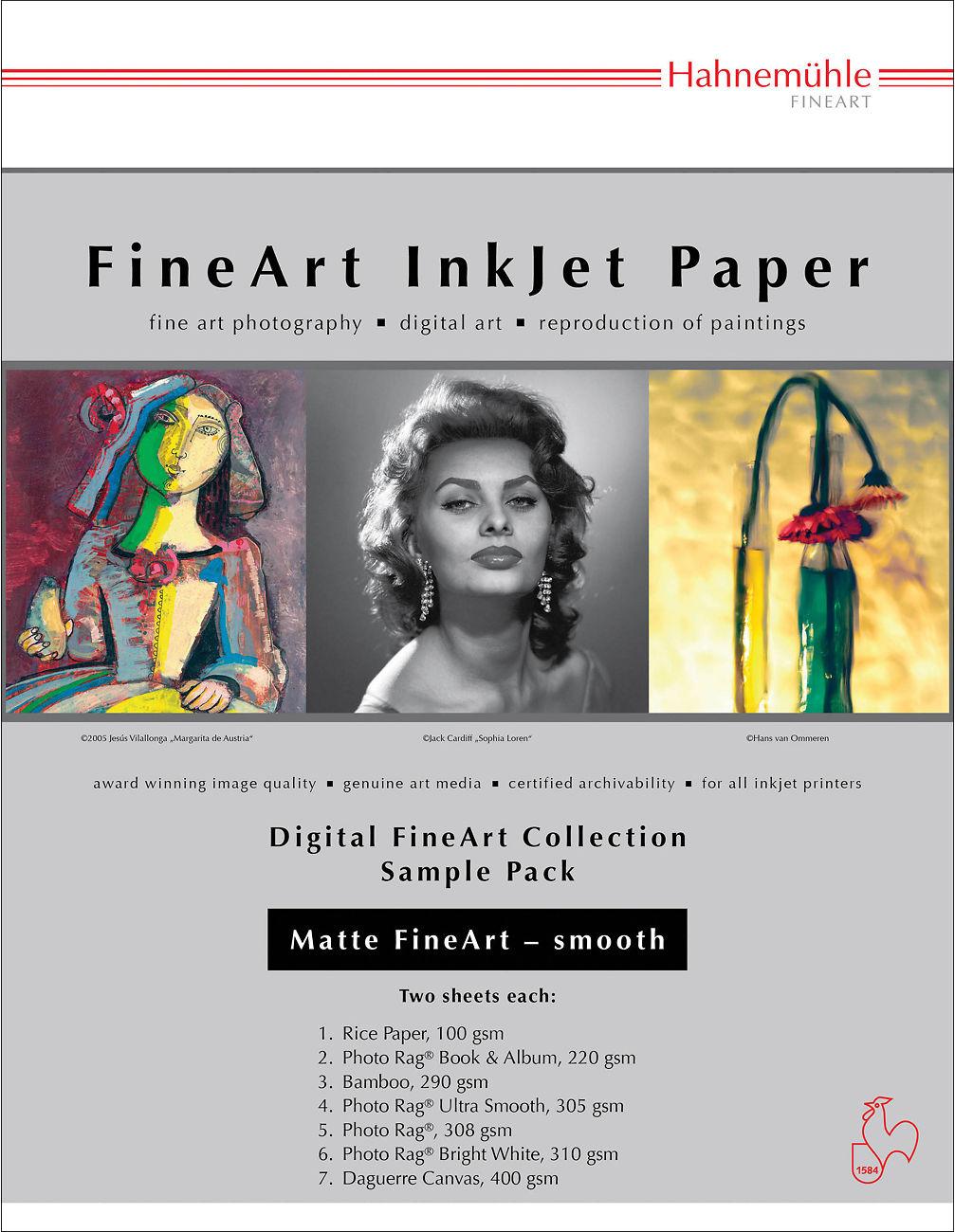 Fine Art Inkjet Paper Sample Packs - Image Science