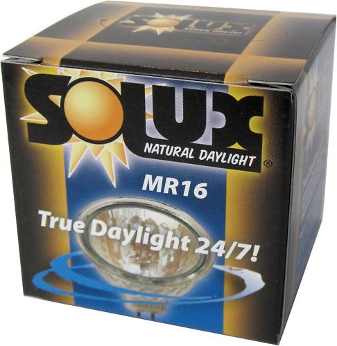 Solux 4700k Mr16 Gu5 3 Black Backed Colour Accurate
