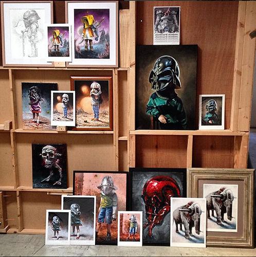 Original Artworks alongside Art Reproduction Prints.