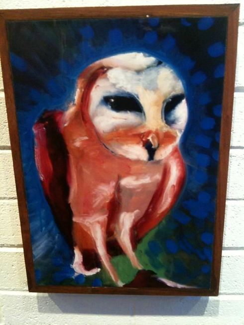 This owl stood out as my favorite on the night. Another OnStone print.