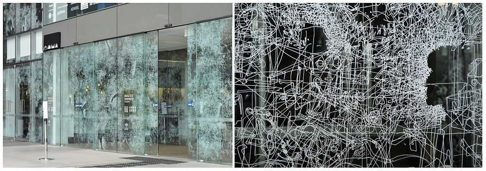 Image: Window Shopping Frost Drawing at GoMA Gallery by Gosia Wlodarczak