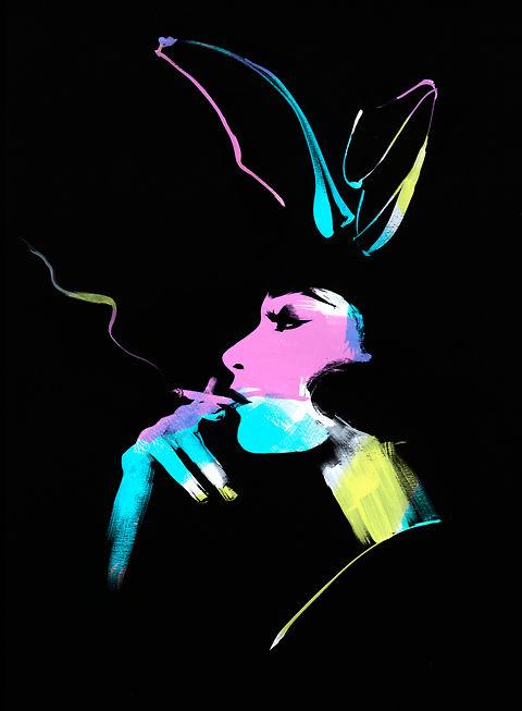 Angie Rehe Rainbow Bunny