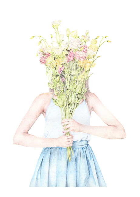 Carmen Hui Girl With Wildflowers A2