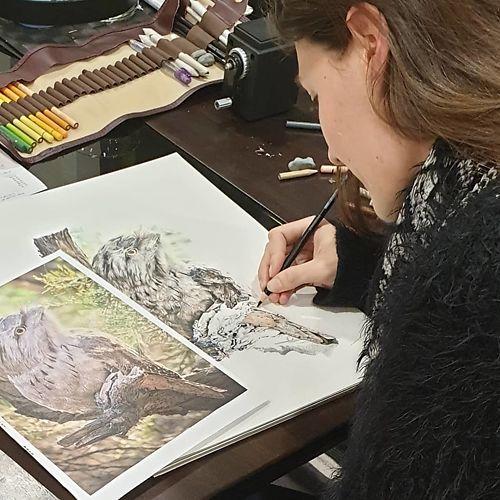 Helen Grey - Artist at Work