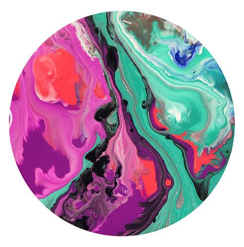 Neon Marble Print