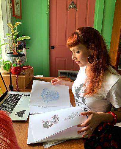 Artist Cat Berruer of Just Call Me Cat