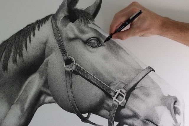 Kris Hartas Horse Detail