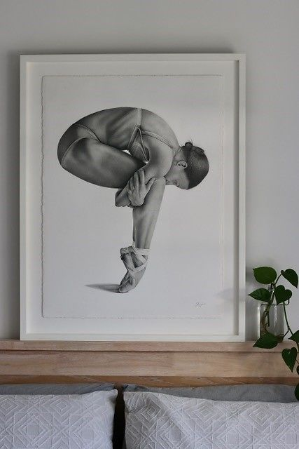 Kris Hartas Framed Ballet Dancer