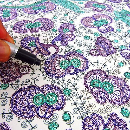 Mai Yazawa - Purple Coral Pea Detail