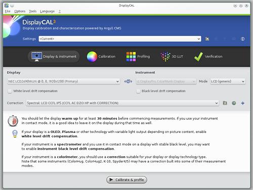 Screenshot from DisplayCAL