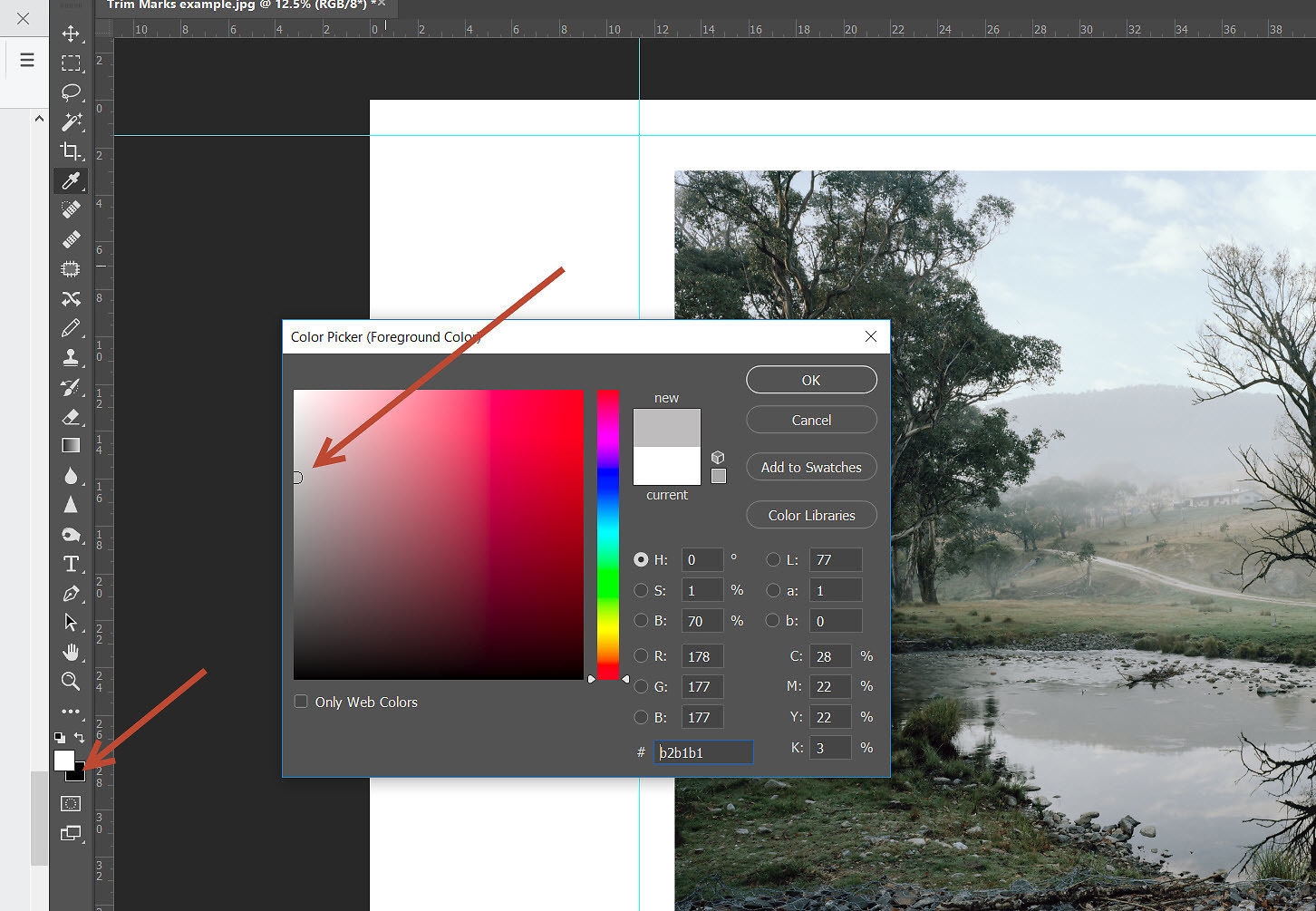 How To Add Trim Marks In Photoshop | Image Science
