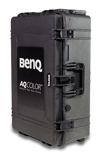Ben Q Color Accurate On The Go Photographer Monitor Suitcase sx 1 Standing 45 Degree Angle resized