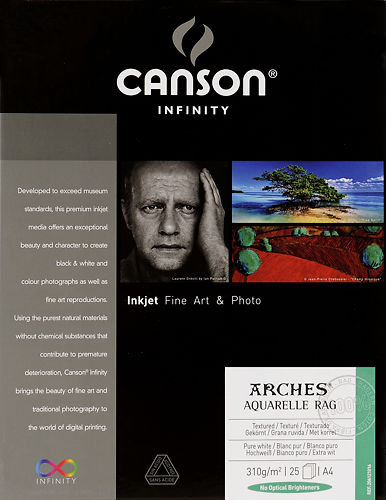 Canson Infinity Arches Aquarelle Rag 310gsm