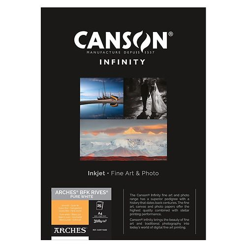 Canson Infinity Arches BFK Rives Pure White 310gsm Master Image