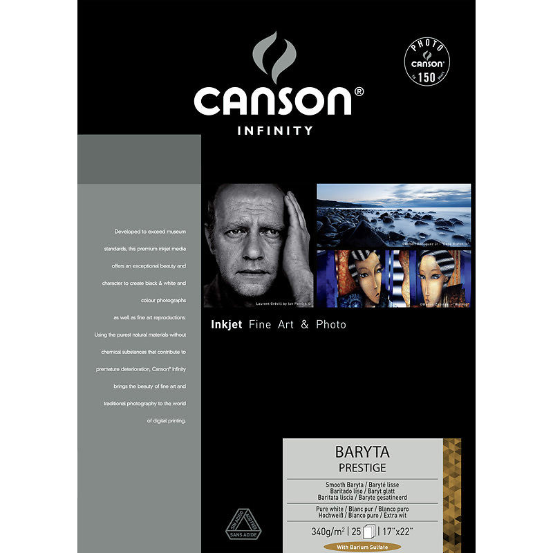 "Canson Infinity Baryta Prestige 340gsm 24"" 10m Sample Roll Image"