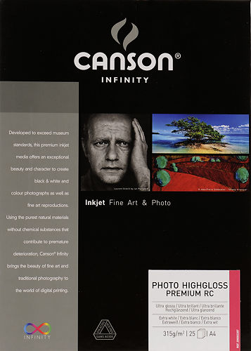 Canson Infinity Photo High Gloss Premium RC 315gsm