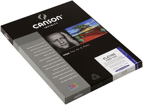 Canson Infinity Platine Fibre Rag 310gsm Side View