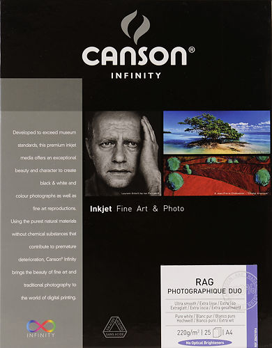 Canson Infinity Rag Photographique Duo 220gsm
