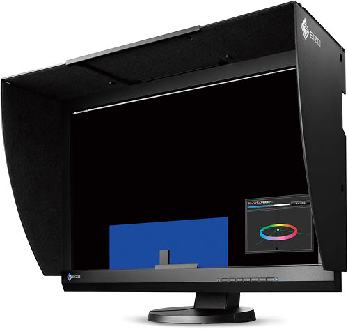 Eizo CG247 24 Inch ColorEdge Monitor Side with Hood