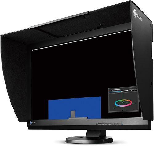 Eizo CG247 24 Inch ColorEdge Monitor Side with Hood
