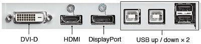 Eizo CG247 24 Inch ColorEdge Monitor Connectors