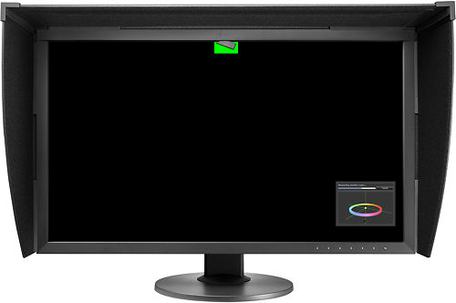 Eizo CG2730 27 Inch Monitor with Eizo Monitor Hood CH2700 and Sensor Front View