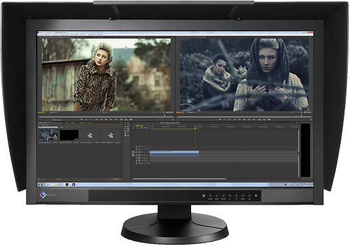 EIZO CG277 27 Inch ColorEdge Monitor Front Display with Hood