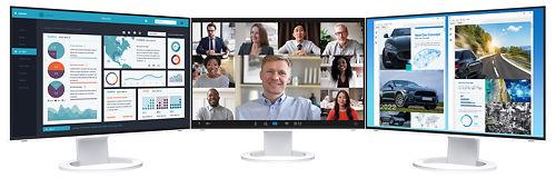 Eizo Flex Scan 24inch Monitor EV2495 3 Screens Daisychain