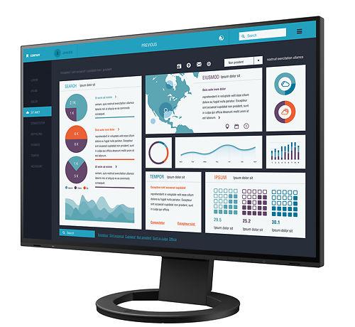 Eizo Flex Scan 24inch Monitor EV2495 BK 45 Screen On
